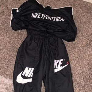 A woman Nike outfit that  have been worn once